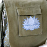 Lotus Bag - Green & Blue