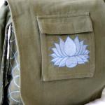 Lotus Bag - Green & Blue