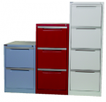 Steel vertical filing cabinets