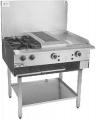 Combination char grill, grill & boilers