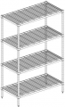 Post Style Wire Shelving