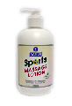 Lotion for massage active sports