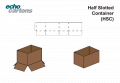 Half-slotted cartons