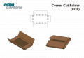 Corner cut folder
