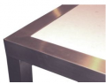 Solid Surface Top with Stainless Steel Frame