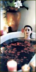 Aromatherapy Cocoon With a Rose Petal Milk Bath
