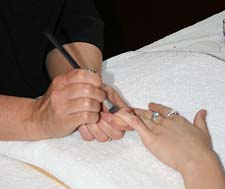 Deluxe manicure with Paraffin