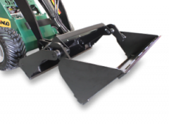 Heavy-duty 4 in 1 The ultimate earth moving piece. 4 in 1 Enables front blading, back blading, plus all the advantages of a regular bucket.
