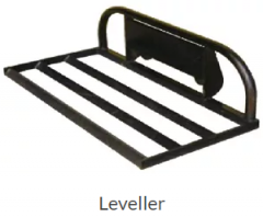 Leveller or spreader bar attachment for our mini digger is made of high strength steel grasped and held by the 4 in 1 bucket.