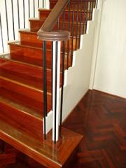 Stairs timber covering