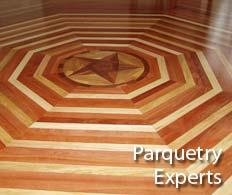 Installing parquetry flooring