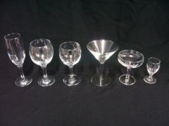Glasses and Glassware & China Hire