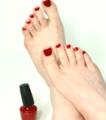 Nurture my feet pedicure with Colour Polish